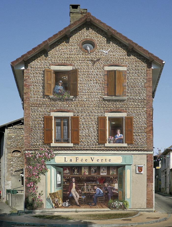 French Artist Transforms Boring City Walls Into Vibrant Scenes Full Of Life - La fée verte