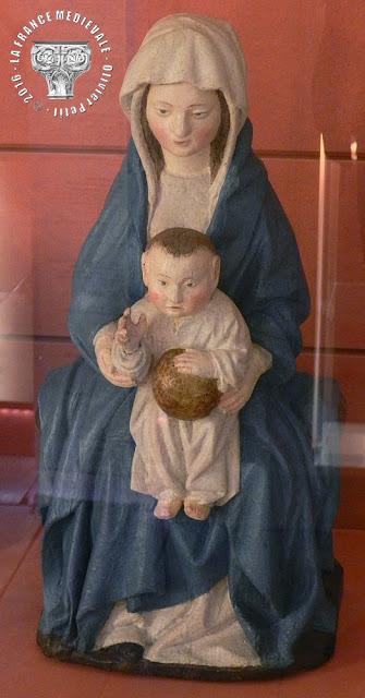 DIJON (21) - Musée d'Art Sacré : Vierges à l'Enfant (XVe siècle)