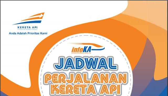 Jadwal perjalanan kereta api dari PT KAI.