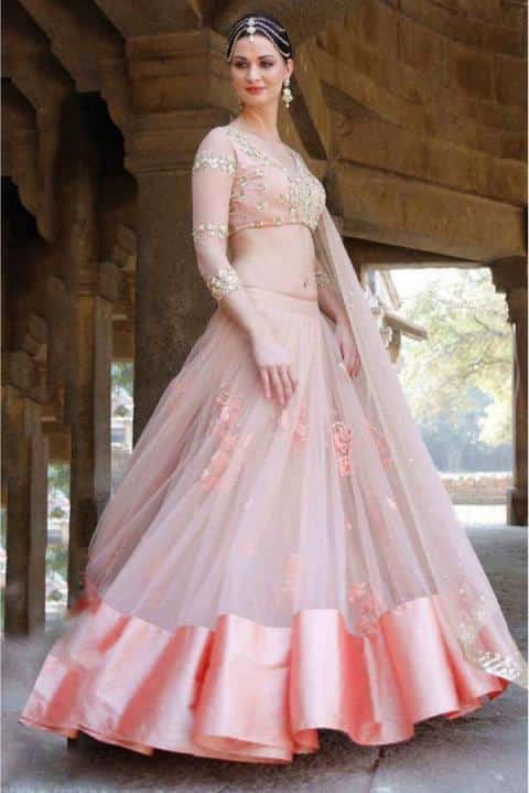 Net Lehenga Designs Wedding Functions