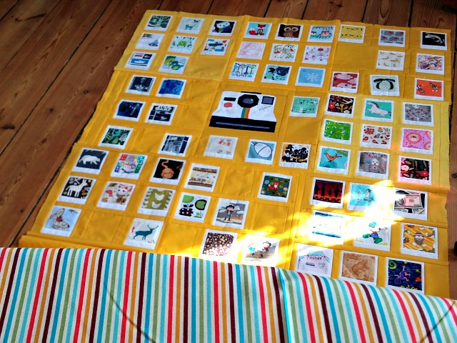 Polaroid Quilt, Photo Quilt, Puppilalla,