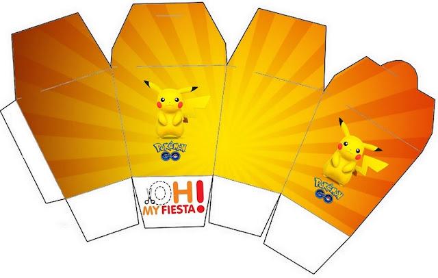 "Caja tipo ""de comida china""de Pikachu."
