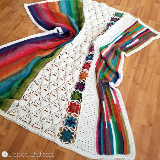 5th Dimension Blanket crochet pattern and CAL by Susan Carlson of Felted Button