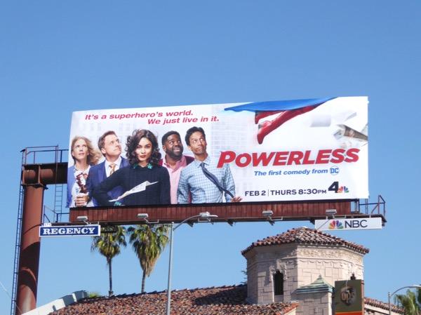 Powerless series launch billboard