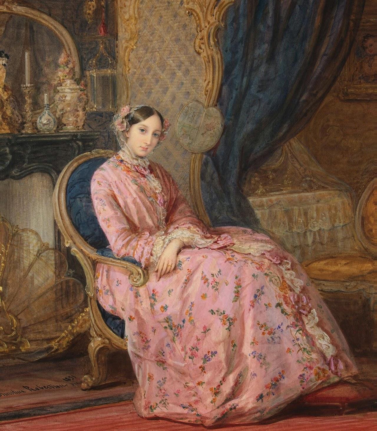 Portrait de la Grande Duchesse Maria Nikolaevna (1851), Christina Robertson