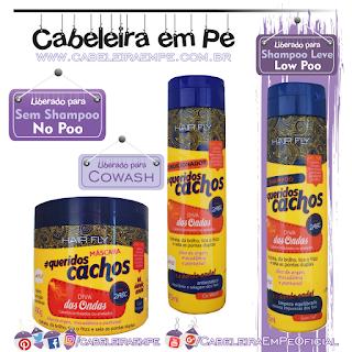 Linha Queridos Cachos Diva Das Ondas - Hair Fly (Shampooo Low Poo, Condicionador e Máscara liberadas para No Poo e cowash)