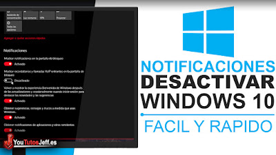 como desactivar notificaciones windows 10