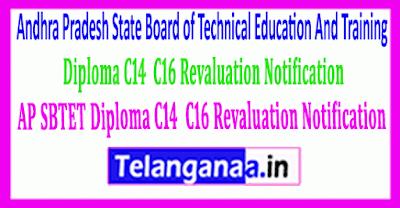 AP SBTET Diploma C14  C16 Revaluation Notification