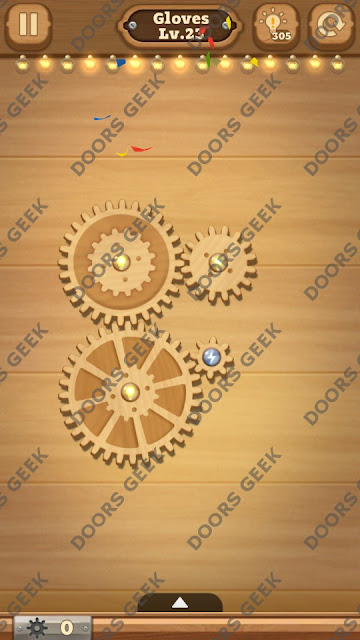Fix it: Gear Puzzle [Gloves] Level 23 Solution, Cheats, Walkthrough for Android, iPhone, iPad and iPod