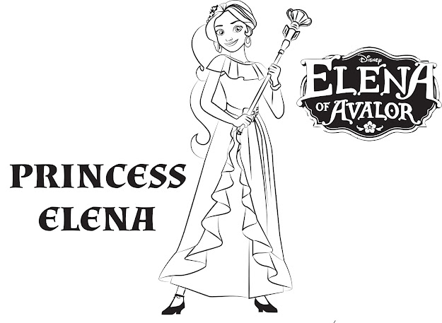 Disneys Elena Of Avalor Coloring Pages Sheet Free Disney Printable Elena  Of Avalor Color Page