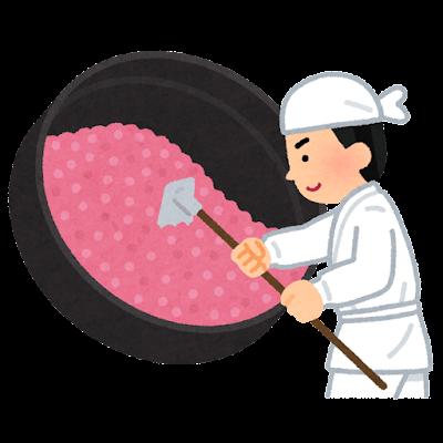金平糖を作る人のイラスト