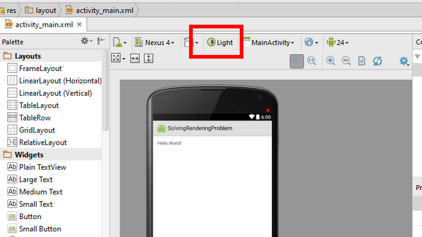 4- Trick To Solve Layout Rendering Problem in Android Studio ...