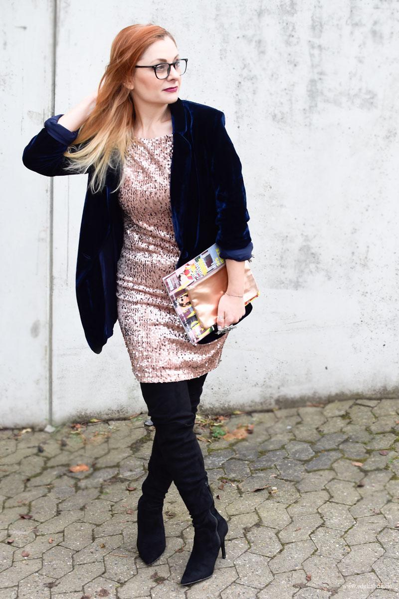neue Heidi Klum Kollektion bei Lidl, esmara, Lidl, Heidi Klum, Paillettenkleid