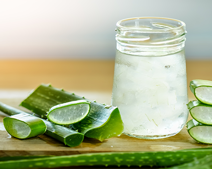 Natural Aloe vera summer cooler