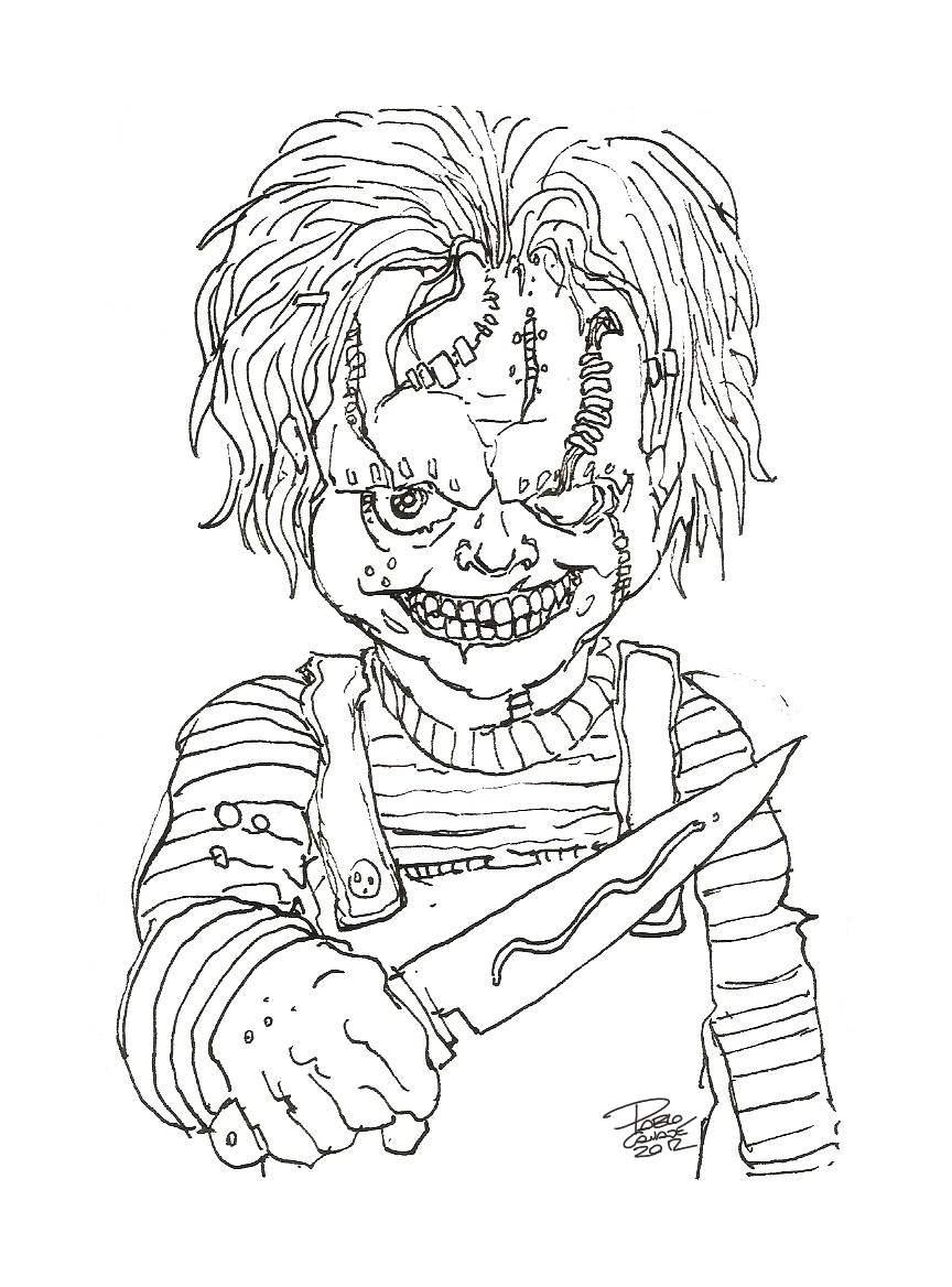 Dibujos De Chucky El Muñeco Diabolico Para Colorear
