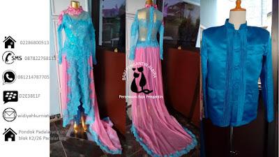 Harga Paket Rias dan Sewa  Baju Kebaya Pengantin Sepasang Murah Meriah 650 ribu
