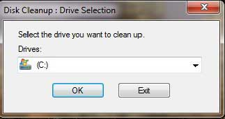disc drive selection