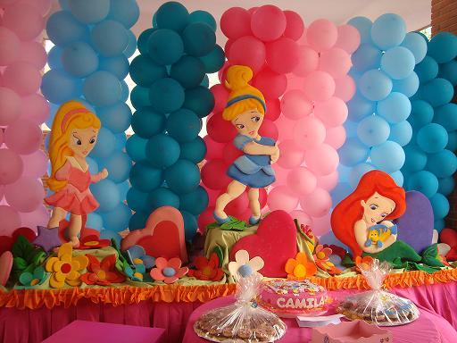Ideas para tus fiestas tematicas decoraci n princesas bebes - Decoracion fiestas bebes ...