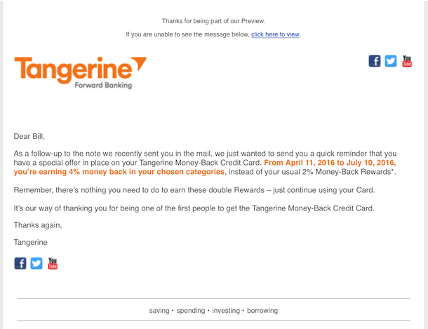 tangerine mastercard how to get