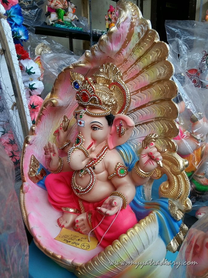Ganesha in a shell, Ganesh Chaturthi, Mumbai