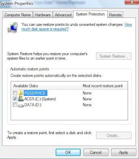 Disabling System Restore