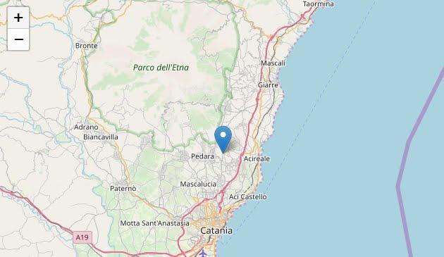 Forte Terremoto nella notte in provincia di Catania: Sisma M4,8 con epicentro 6 Km W di Acireale.
