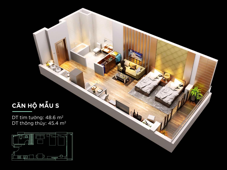 Chi tiết căn hộ S dự án Condotel Kim Long Season