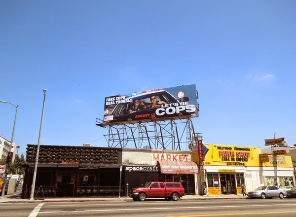 Let's Be Cops billboard