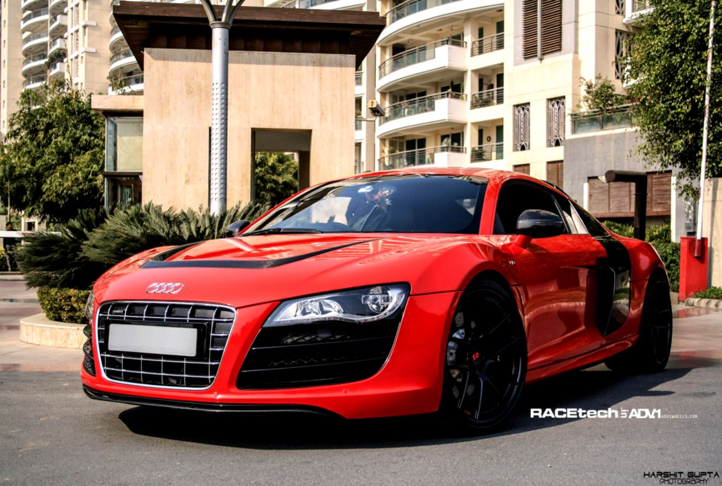 Audi R8 Matte Red Mobile Wallpapers