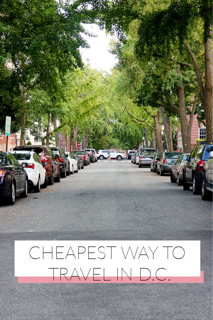 cheapest ways to travel in dc