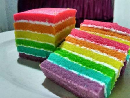 Resep Rainbow Cake Kukus Super Lembut