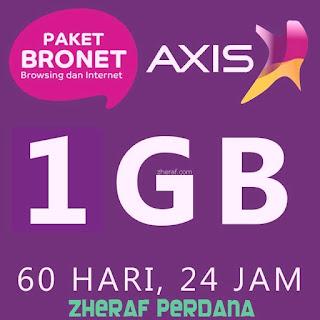 Perdana Internet AXIS 1GB - AXIS Bronet 1GB 24 Jam