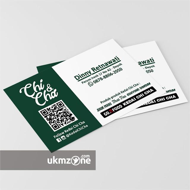 Desain kartu nama untuk usaha kuliner UMKM IKM Kedai Chi Cha Depok - UKM ZONE.jpg