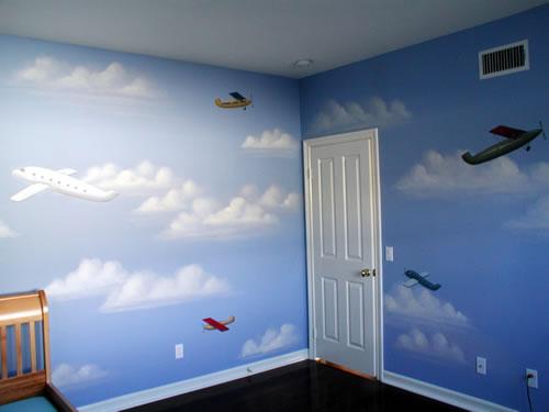 دهان غرف أطفال 2020 باللون السماوي