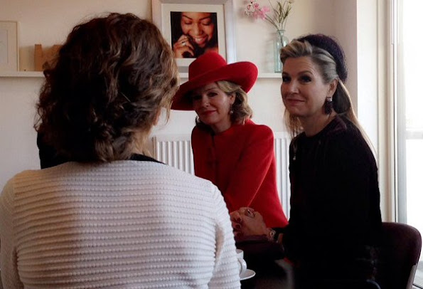 Queen Maxima wore Natan dress, and Queen Mathilde wore Natan dress in red