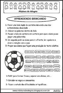 Atividade sobre copa mundial