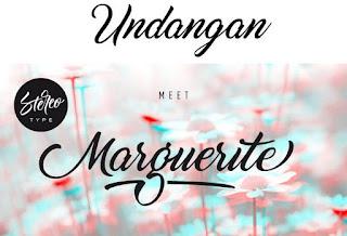 Download 40+ Font Latin Keren Untuk Desain Undangan Pernikahan, Marguerite