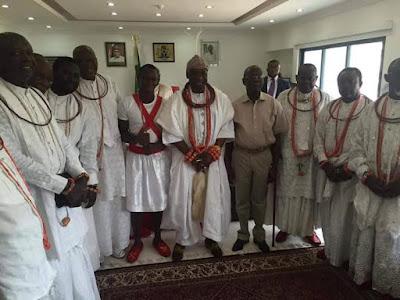 pictures he Olu of Warri Prince Godfrey Ikenwoli visits oshiomhole