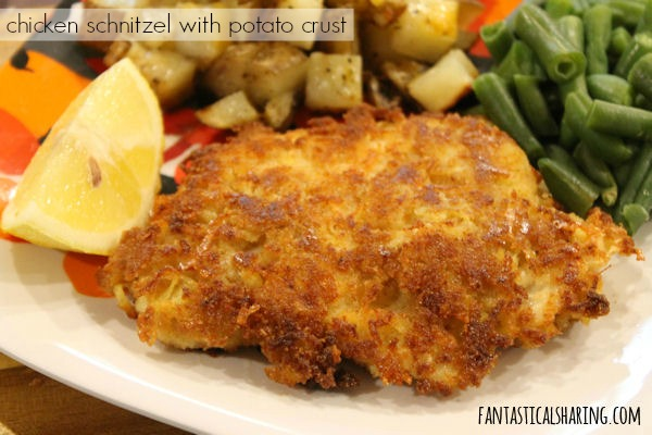 Chicken Schnitzel with Potato Crust #maindish #recipe #chicken #schnitzel