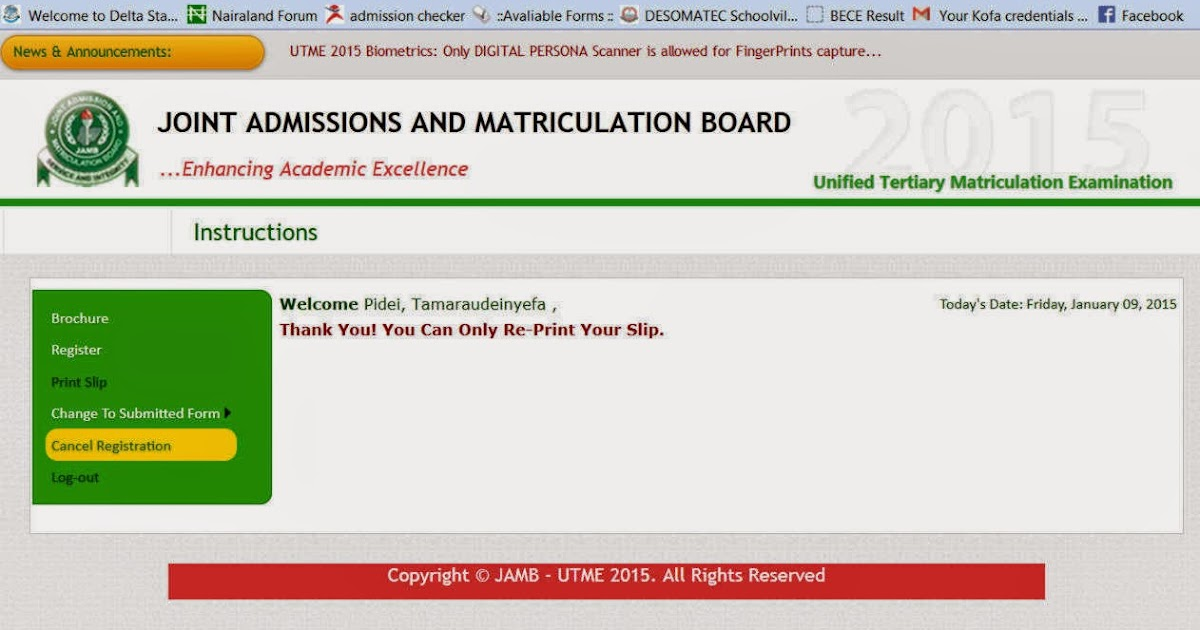 PROCEDURE/STEP ON HOW TO CANCEL YOUR JAMB APPLICATION DETAILS TO ENABLE NEW REGISTRATION