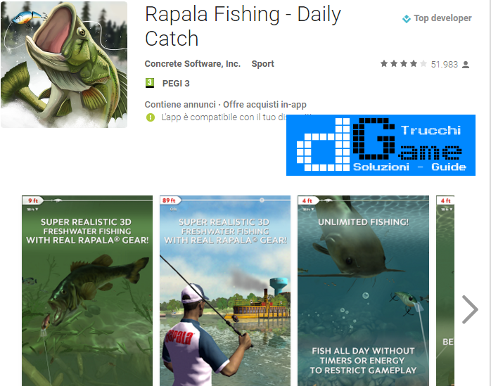Trucchi Rapala Fishing – Daily Catch Mod Apk Android v1.3.4
