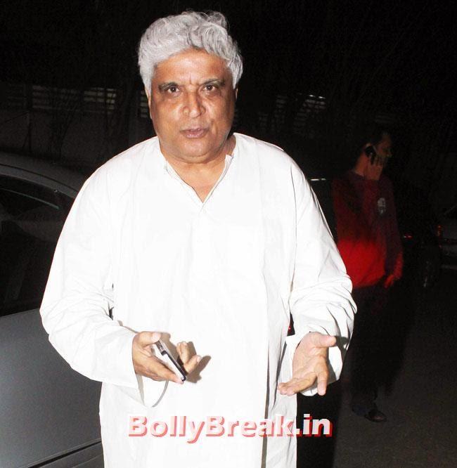 Javed Akhtar, Preeti Desai, akshay Kumar at Holiday Special Screening