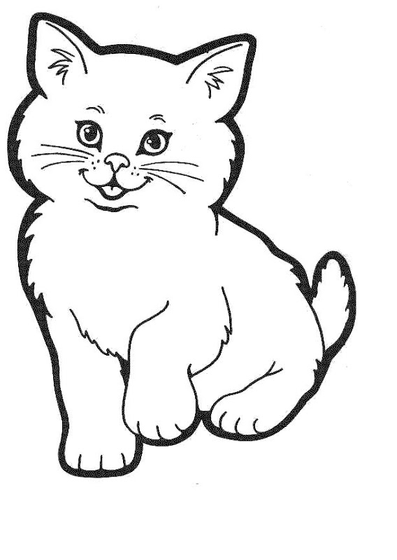 Cat Coloring Pages high resolution