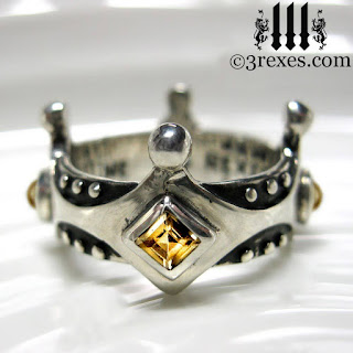 brandy-wine-medieval-wedding-ring-princess-crown-yellow-citrine-novenber-birthstone-sterling-silver