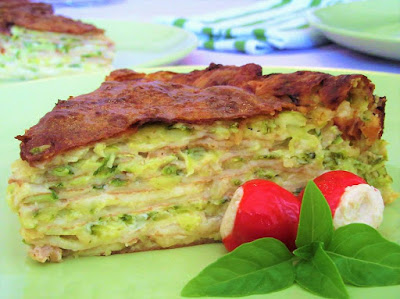 Zucchini pancake cake