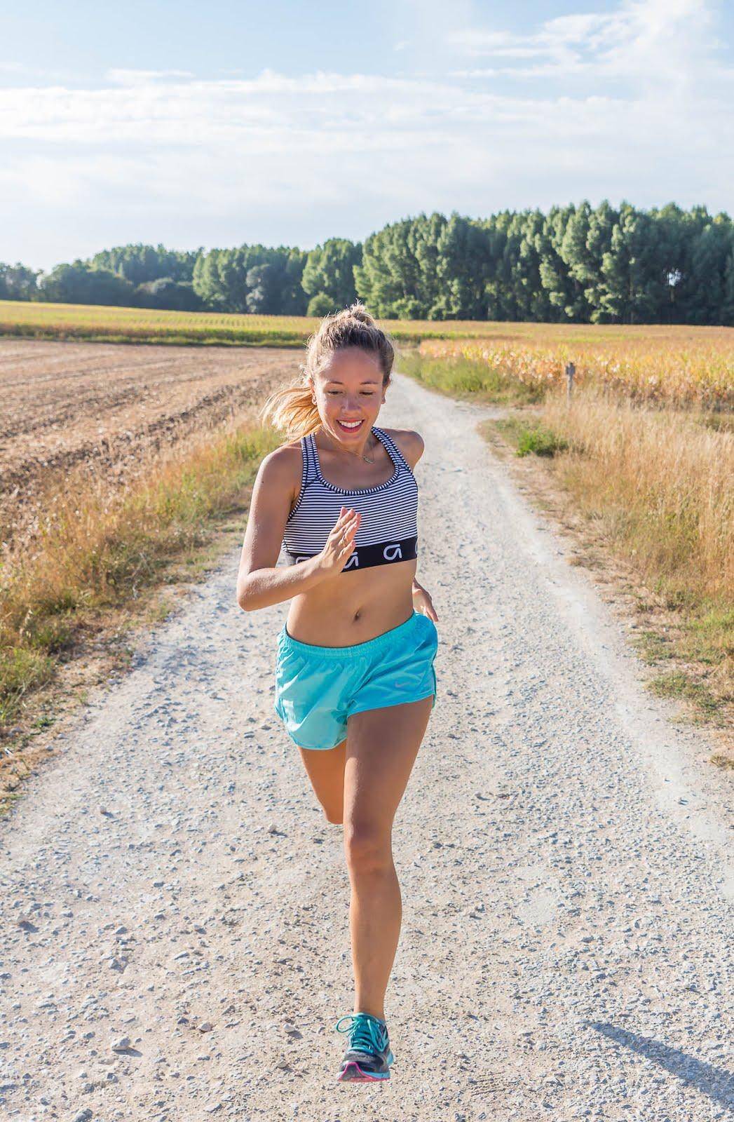Courir avec le sourire