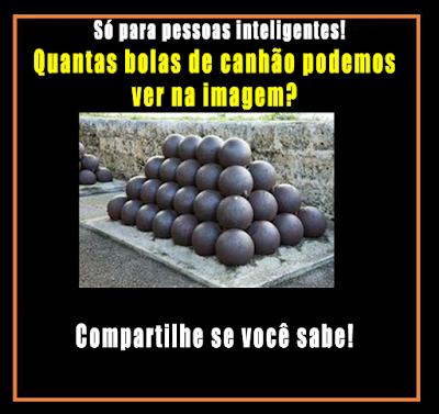 Teste - Quantas bolas de canhão podemos ver na imagem?