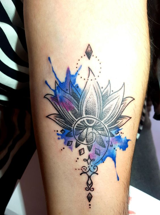 50 beautiful floral tattoos designs and ideas for boy and girls awesome lotus flower tattoo design on leg ideas for boys and girls mightylinksfo