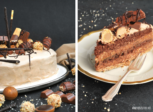 Herzfutter Food Blog Candy Cake Aka Nuss Nougat Karamell Torte