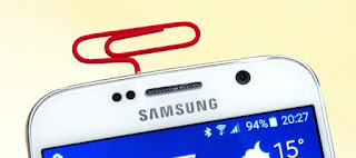 4.Open a SIM card tray when an ejector tool isn't around
